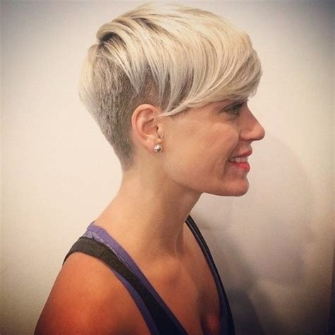 shaved back and sides haircut short hairstyles with shaved sides and back hairstyles