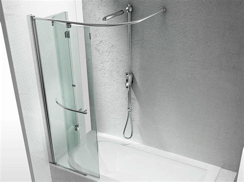 tende da doccia rigide tempered glass bathtub wall panel replay sr by vismaravetro