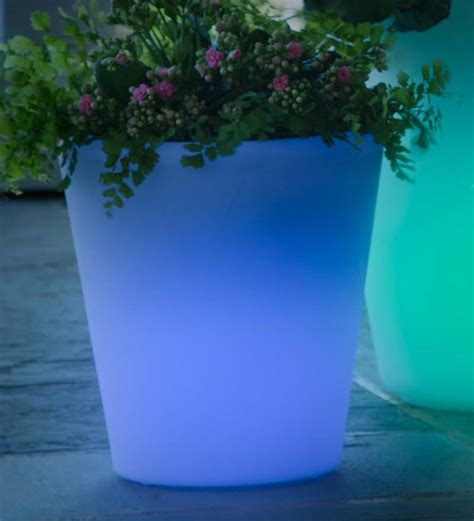 Solar Planters by Medium Color Changing Solar Planter Collection Accessories