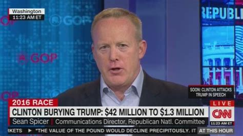 sean spicer rnc rnc s sean spicer s embarassing appearance on cnn crooks