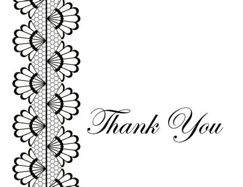 Thank You Card Template Black And White Template Thank You Card Template Black And White