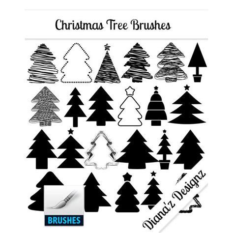 32 christmas tree brushes photoshop brushes