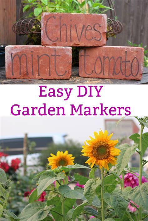 diy garden markers  bricks   dollars  month