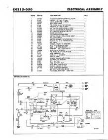electrical wiring schematic page 2 diagram parts list for model e4315050 noma parts