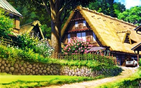 Country Cottage Wallpaper by Awesome Country Cottage Hd Wallpaper For Desktop