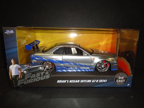 nissan skyline fast and furious 1 jada nissan skyline gt r r34 brian s fast and furious 1 24