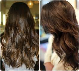 trending hair color 2015 chocolate color with soft copper highlights for 2015 hair