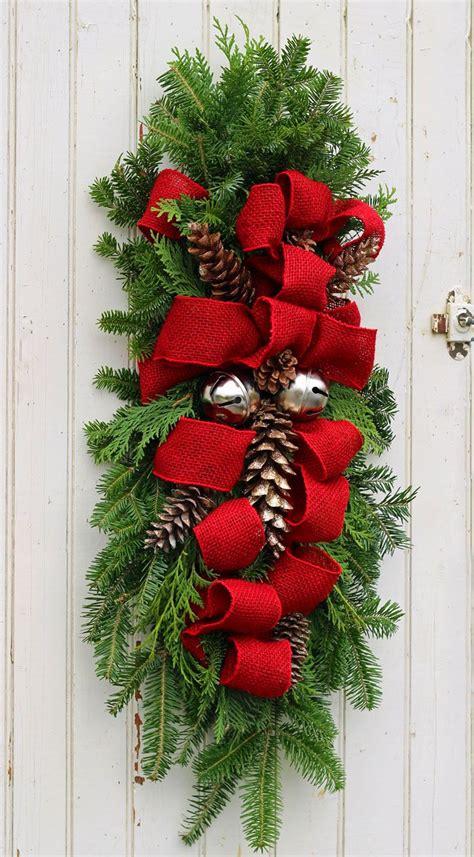 christmas swag wreath christmas door