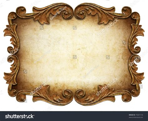 Vintage Classical Frame Isolated Stock Illustration ...