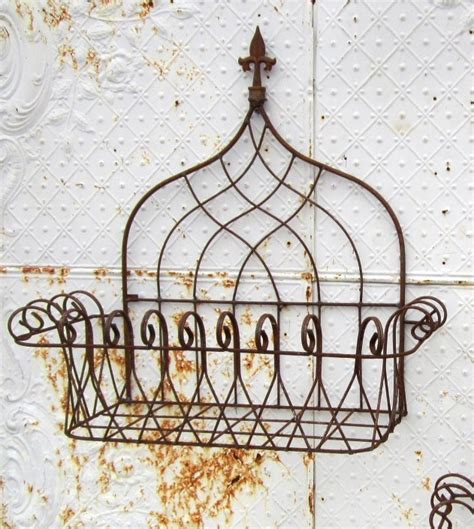 27 Quot Wrought Iron Planter Tuscan Wall Basket Out Of Stock Wrought Iron Wall Planters