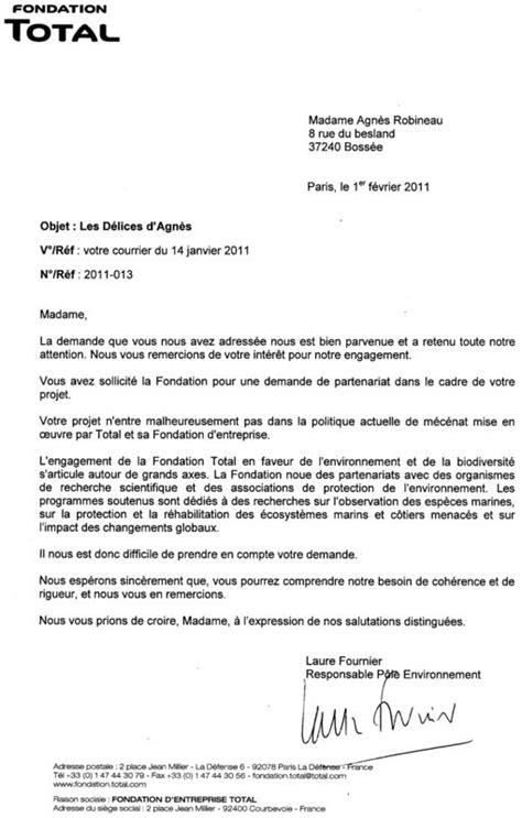 Demande De Partenariat Lettre Modele modele lettre sponsoring document