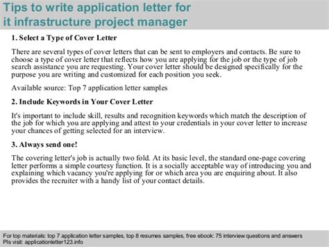 Infrastructure Project Manager by It Infrastructure Project Manager Application Letter