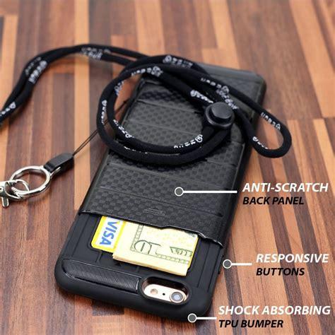iphone   case  detachable long lanyard  card