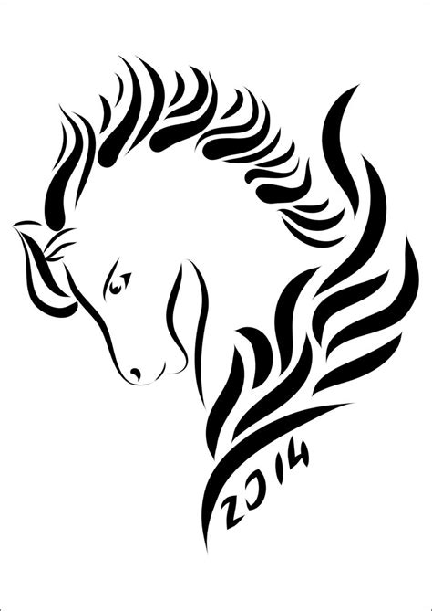 year of the horse tattoo designs best 25 tribal ideas on