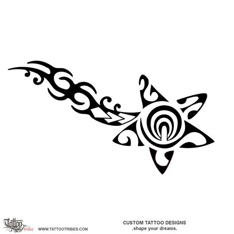 comet tattoo designs of comet tribal custom designs on