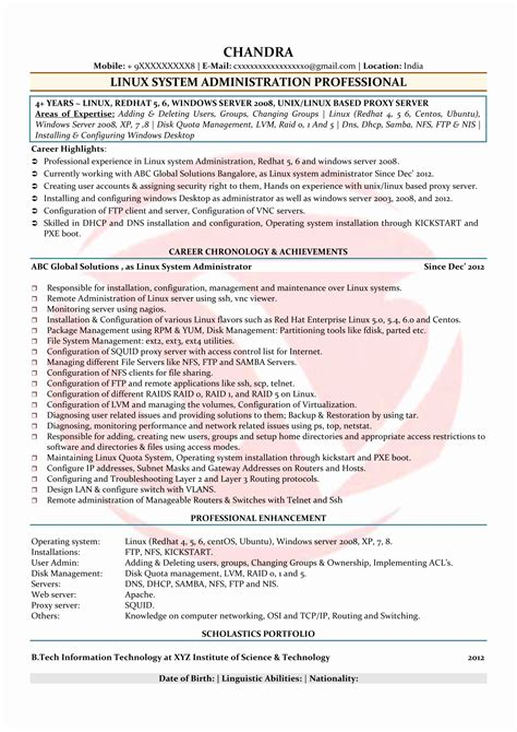 it administrator resume exles network administrator resume sle fresh network security