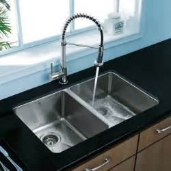 vigo premium collection double kitchen sink faucet