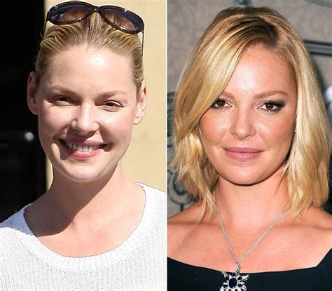 Makeup Lesson Katherine Heigls Look by Katherine Heigl Without Makeup