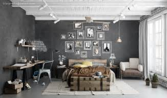 Industrial Style Bedroom by Industrial Bedrooms Interior Design Home Design