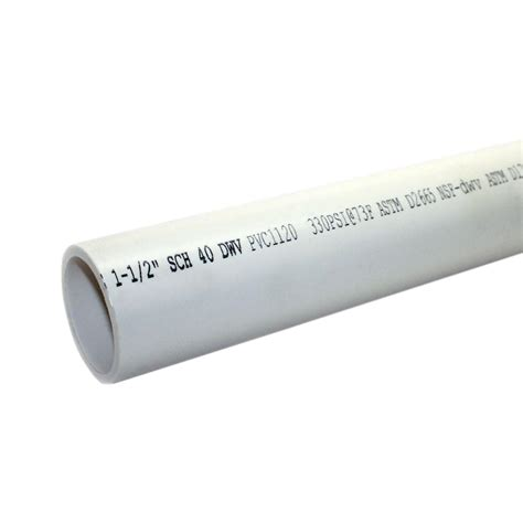 Pipa 6 Inch Sch 40 1 1 2 in x 10 ft 330 psi schedule 40 sc 1 st the home depot 1 in x 10 ft pvc schedule 40