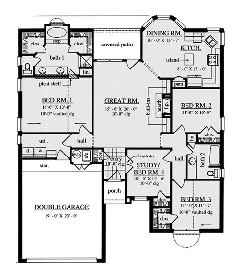 23 pictures dream home source house plans 79678 traditional style house plan 4 beds 2 baths 1701 sq ft