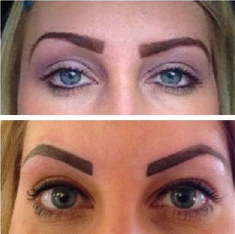 tattoo eyebrows semi or easy eyebrow tattoo cost and before after photos