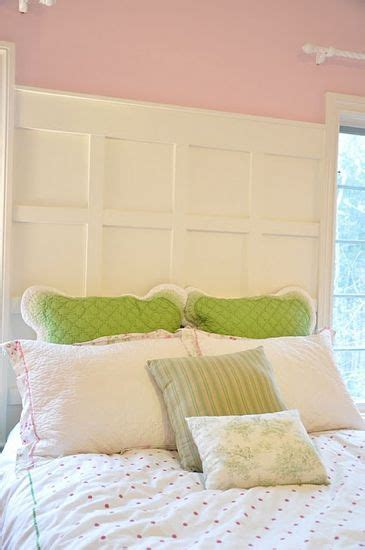board and batten headboard wainscoting as a headboard for the home pinterest