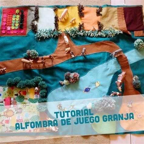 alfombra granjera de juego  fieltro telas  lana tutorial la cantatrice school pinterest