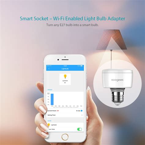 apple homekit light bulb koogeek wi fi smart socket light bulb adapter works with