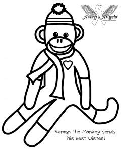 coloring pages of sock monkey printables avery s angels