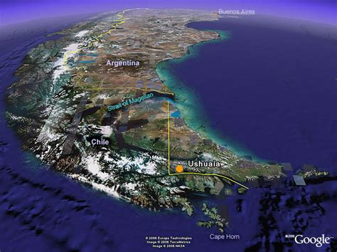 imagenes satelitales de ushuaia ushuaia satellite view biennial of the end of the world