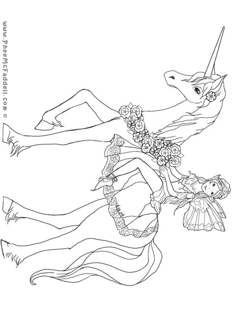 Fairy Unicorn Coloring Page | free coloring pages of unicorn fairy