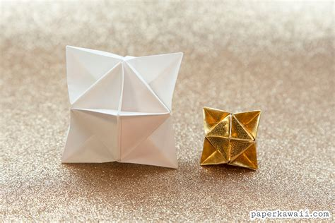 Money Origami Cube - origami cube decoration tutorial paper kawaii