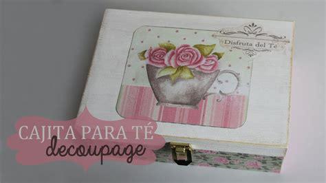 tecnicas para decorar cajas de carton decorar una caja de t 233 con decoupage youtube