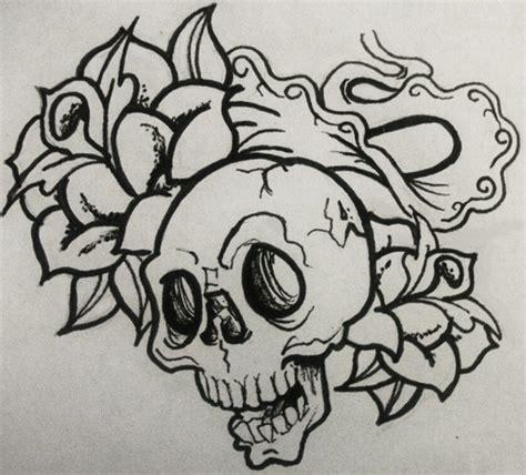 old skool tattoo designs skool skull by 8poppypaws on deviantart
