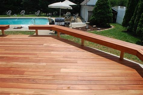 deck designs with benches deck benches tigerwood deck with benches hardwood decks photo gallery archadeck