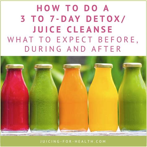 What Happens After Detox by 3 To 7 Day Detox Juice Cleanse What To Expect Before