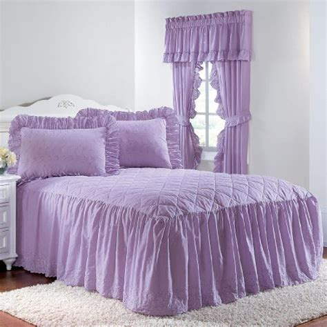 discount coverlets cheap brylanehome eyelet bedspread with ruffle bottom