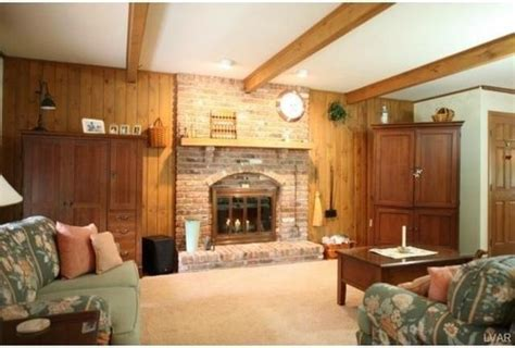Fireplace Makeover Ideas Before After - to paint not to paint wood panel wall around fireplace and what color s