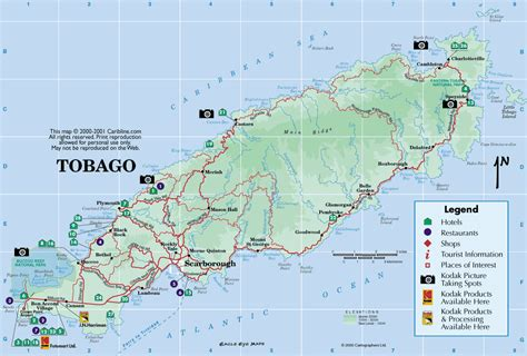 and tobago map map of list of rivers of and tobago the wiki