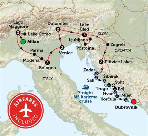 northern italy map northern italy slovenia croatia bunnik tours