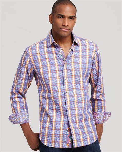 Designer Mirrors by Robert Graham Multi Pattern Button Down Shirt Classic