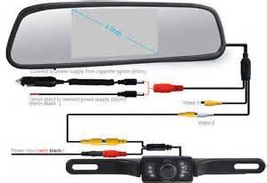 4 3 quot tft lcd monitor car rear view system backup kit vision ebay