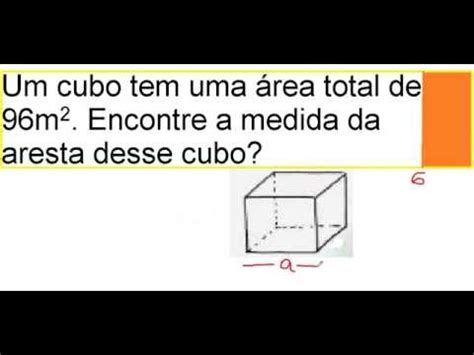 calcular a area da superficie de um cubo curso de matem 225 tica 193 rea e aresta do cubo geometria