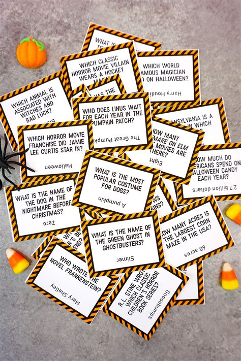 printable halloween trivia game happiness  homemade
