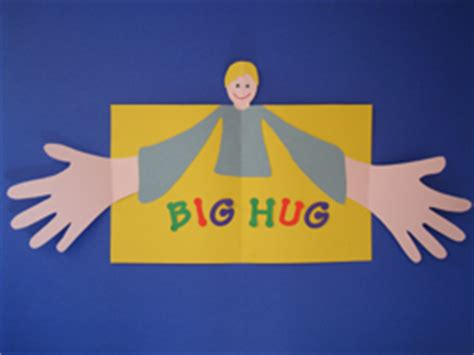 hug card template preschool crafts for s day big hug card craft