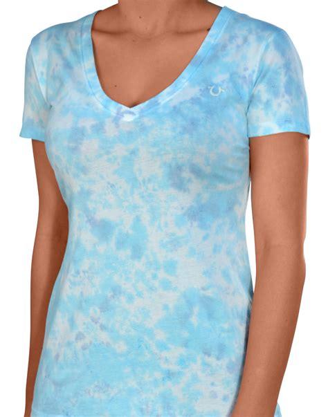true religion brand s tie dye v neck shirt ebay