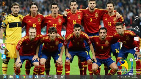 spain national football team 2014 theme for windows 7 and
