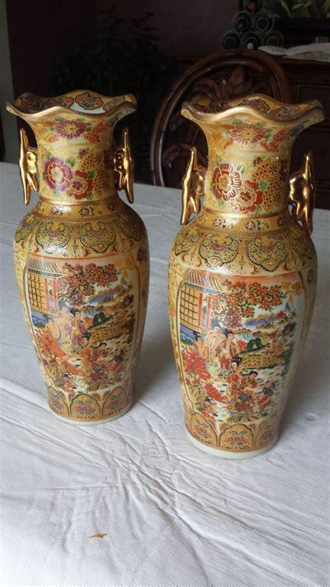 royal satsuma vase pair of royal satsuma vases satsuma