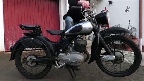 Nsu Motorrad Video by Oldtimer Motorrad 200er Nsu Lux Youtube